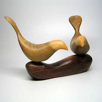 Birds on Branch Carving